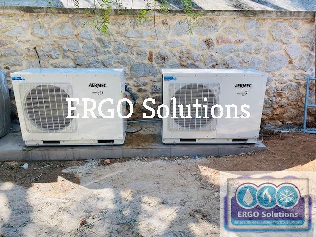 Εγκατάσταση Δικτύου Κλιματισμού, Θέρμανσης με Fan Coil Nερούκαι Αντλίες Θερμότητας Aermec. featured image