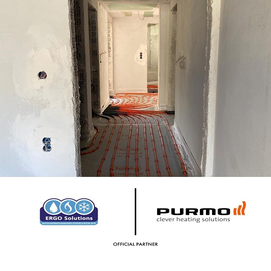 Εγκατάσταση ενδοδαπέδιας θέρμανσης με σύστημα Purmo featured image