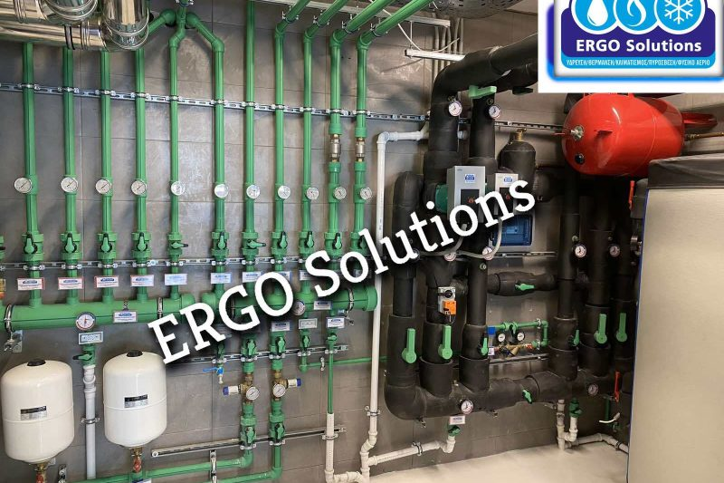 Λεβητοστάσιο με παραγωγή νερού θέρμανσης με Αντλίες θερμότητας Daikin και Ενδοδαπέδιας REHAU featured image